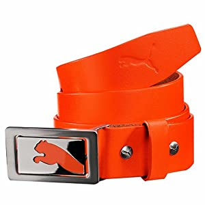 Puma Men's Flipside Fitted Belt, Orange, Small