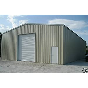 Duro steel 30x50x12 metal building kit residential dream for Residential garage kits