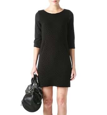 Promod Sweat-Shirt-Kleid Schwarz 36/38