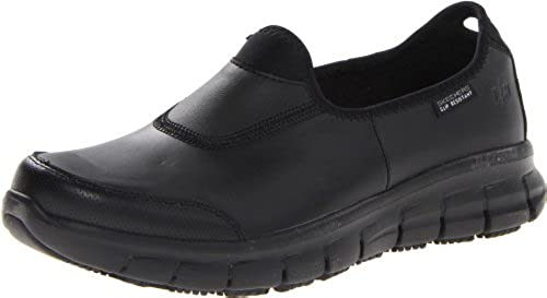 12. Skechers for Work Women's 76536 Sure Track Slip-Resistant Shoe