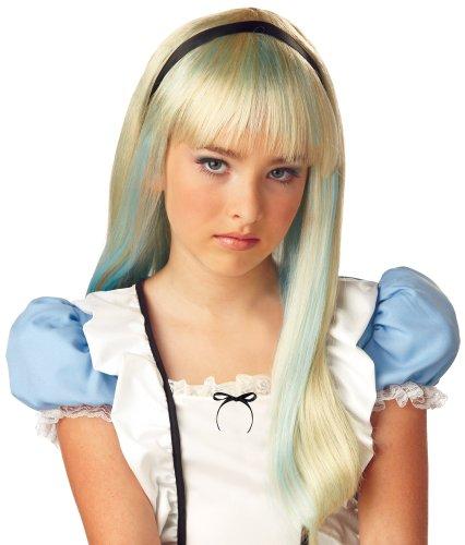 Alice in Wonderland Wig (Blonde/Blue) Child Halloween Costume Accessory (B915)