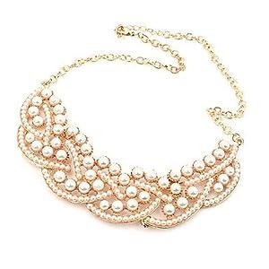 Europa und elegante Boutique Korean wildes Temperament Luxus echte Perle falschen Kragen kurze Halskette