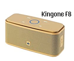 KINGONE F8 Bluetooth Speaker with TF MP3 Player and Handsfree Surround Sound & Super Bass Gold