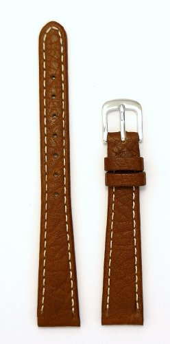 Ladies' Genuine Italian Sport Leather Watchband, Color Tan, Size 14mm, Watch Strap