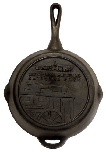 The Camp Chef SK-10  Cast Iron Skillet, 10 Inch Diameter