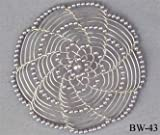 Synagogue Shul Beaded Judaica kippot kipot women's wire kippah kipa yarmulke yarmulka head covering head piece headpiece hair comb - Grey/Silver