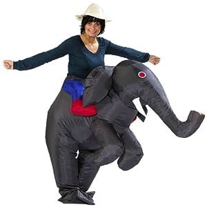 sparmeile 24514 aufblasbares kost m grauer elefant fasching karneval spielzeug. Black Bedroom Furniture Sets. Home Design Ideas