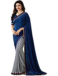 Zofey Women Clothing Saree For Latest Design Wear Sarees Collection In Georgette Material Latest Half And Half...