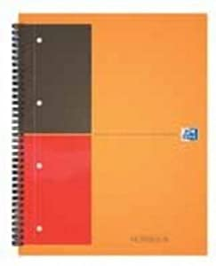 Oxford 001 International Classic Notebook 160 Pages [80 sheets] 230x297mm A4plus Orange and Grey Ref N001202 (Pack of 5)