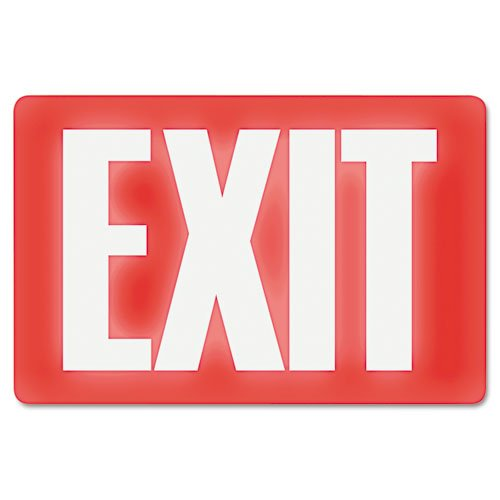 Headline Sign 4792 Glow-in-the-Dark Exit Sign, 8 Inches by 12 Inches