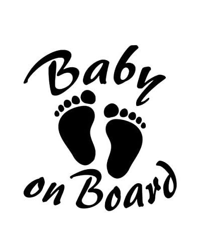 Ambiance Live Vinilo Decorativo Baby on board Blanco