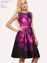 Shoppers trend Designer Printed Blue Dress Most Demanded