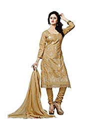 Minu Suits Cotton Unstiched Dress Material New Gold