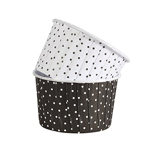 Baking Cups Polka Dot Black and White - Pack of 25