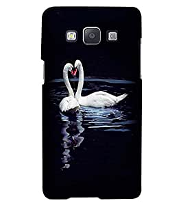 Printvisa Duck Love Pair Back Case Cover for Samsung Galaxy E5::Samsung Galaxy E5 E500F