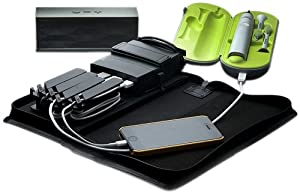 AViiQ Portable Charging Station with 5200 mAh Battery Pack - Leather