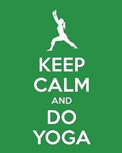 Calm and Do Yoga, premium art print (kelly green): Posters & Prints