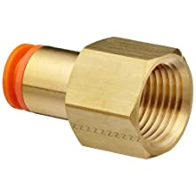 SMC KQ2F Push-to-Connect Tube Fitting, Adapter, Brass Body, Tube OD x NPT Female, Inch