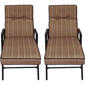 Woven Patio Lounge Chairs Chaise Set Of 2 Plastic All Weather Wi
