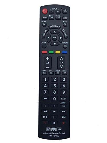 Vinabty Telecomando universale compatibile con la maggior parte dei Panasonic TV LCD LED 3D HDTV con funzione learn