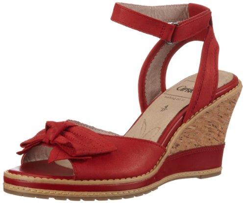 Caprice Da.-Sandalette Sandals Women Red Rot (RED NUBUC) Size: 3.5 (36 EU)