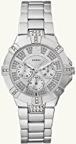 GUESS U12657L1 Dazzling Sport Watch - Silver