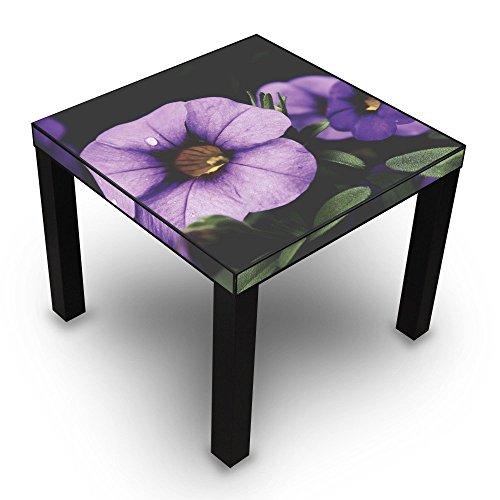 banjado-Design-Wohnzimmer-Tisch-55x45x55cm-Beistelltisch-schwarz-mit-Motiv-Violetta