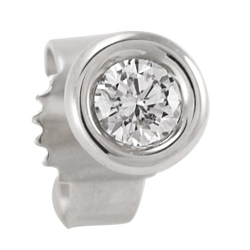 Bella Donna Unisex Single Stud Earring 18ct White Gold 0.10ct 635586