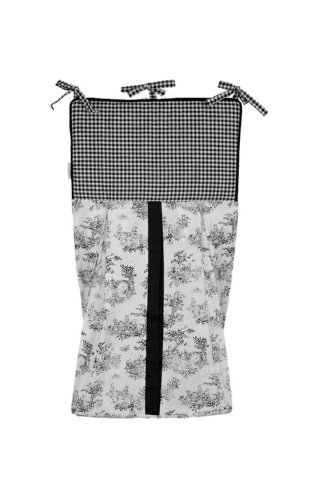 Tadpoles Toile Diaper Stacker, Black - 1