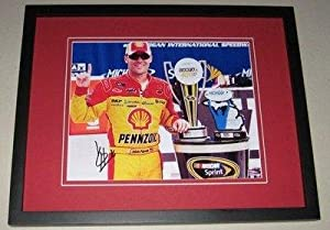 Kevin Harvick Signed Picture - Framed 8x10 Carfax 400 - Autographed NASCAR Photos by Sports Memorabilia
