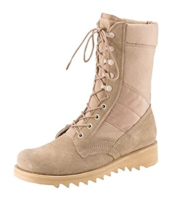 """Desert Tan Ripple Sole Military Speedlace Jungle Boots (Leather) 8"""" 5058 Size 11R"""