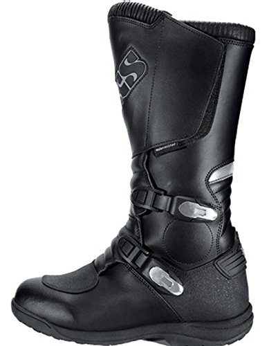 IXS ROAD II MOTORCYCLE BOOTS ROAD 2 MX MOTORBIKE BOOT OFF-ROAD MOTOCROSS BLACK J&S (EURO 42 / UK 8)