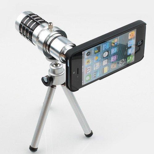 12X Magnifier Zoom Aluminum Camera Telephoto Lens W/ Tripod For Apple Iphone 5