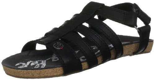 Wrangler Women's Frisco Black Open Toe Flats