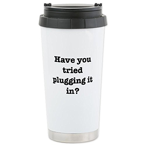 Cafepress Plug It In Ceramic Travel Mug - Standard Multi-Color