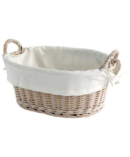 Mamas & Papas - Basket & Liner - Willow White