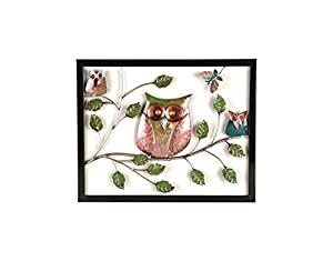 Premier Decorations BA141300 40 cm Owl Wall Art from Premier Decorations
