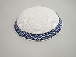 21cm 100% Cotton Kippah Torah Chabad Yamaka Yarmulke SkullCap Judaica Jewish Kippa