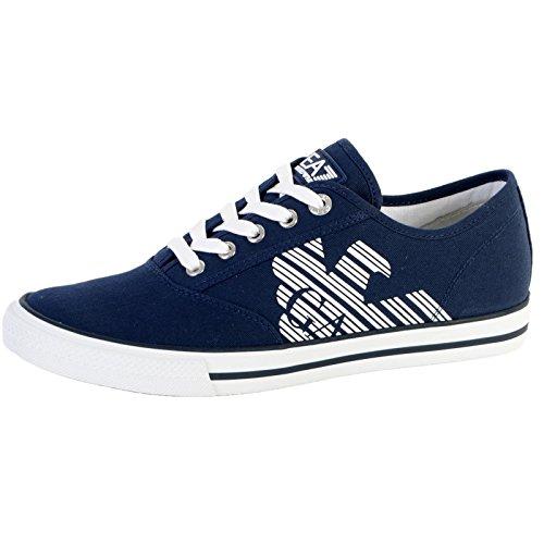 Scarpe uomo EA7 EMPORIO ARMANI, sneaker canvas blu art. 288030 6P299 (43 1/3, Blu)