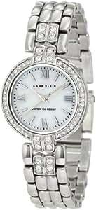 Anne Klein Women's 10/9739MPSV Swarovski Crystal Accented Silver-Tone Bracelet Watch