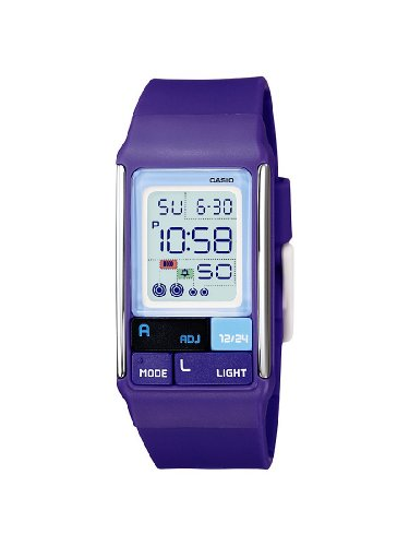 Casio Ladies Digital Watch LDF-52-6AEF With Poptone Resin Strap