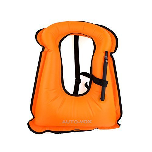 Auto-Vox Adult Inflatable Life Snorkeling Vest Jacket Great for Snorkeling Surfing Swimming Boating Kayaking Fishing Rafting and Floating,Ensure your Safety of Water activities (Snorkeling Gear Vest compare prices)