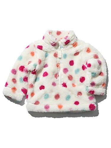 mco-baby-girls-long-sleeve-funnel-neck-colourful-spot-pattern-sherpa-fleece-sweater-cream-3-6-mnths