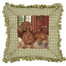 Dachshund Petit Point Pillow