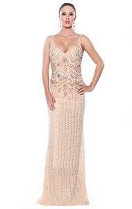 Girls Crystals Lace Applique Beaded Crystal Chiffon/Taffeta/Tulle Bridesmaid Dress