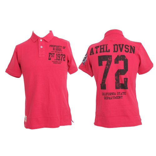 Brave Soul Mens 72 Design 100% Cotton Short Sleeve Summer Polo T-Shirt/Top (Medium) (Pink)