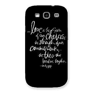 Impressive Quote of Love Multicolor Back Case Cover for Galaxy S3 Neo