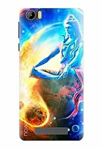Noise Designer Printed Case / Cover for Intex Aqua Star 4G / Festivals & Occasions / Shiva Design