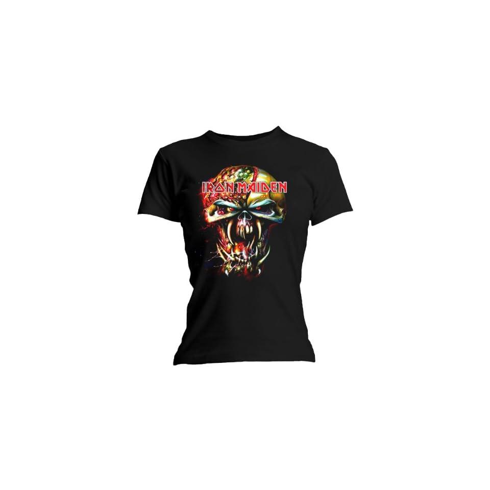 Loud Distribution   Iron Maiden Ladies T Shirt Eddie Big Head Size L