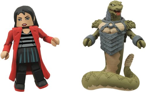 Diamond Select Toys Battle Beasts Minimates Series 1: Snake and Bliss, 2-Pack